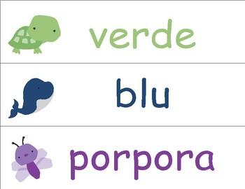 Colors in Italian ~ i colori ~ Classroom Display
