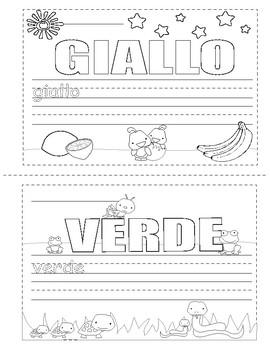 Colors in Italian ~ i colori ~ Mini Coloring Book