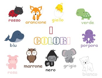Colors in Italian ~ i colori ~ Worksheets
