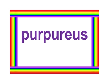 Colores (Colors in Latin) Posters