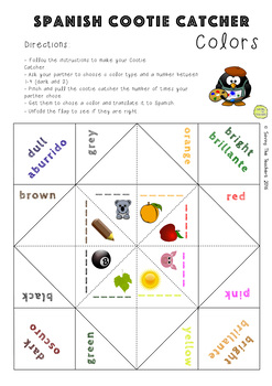 Colors in Spanish Activity