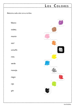 Colors in Spanish - Los Colores - Activity Pack