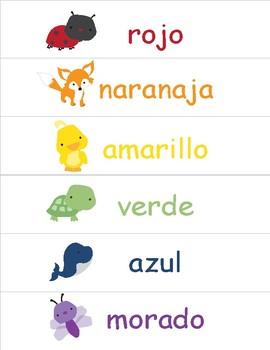 Colors in Spanish ~ Los Colores ~ Classroom Display