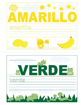 Colors in Spanish ~ Los Colores ~ Mini Booklet