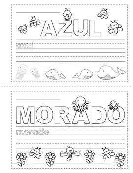 Colors in Spanish ~ Los Colores ~ Mini Booklet ~ Coloring