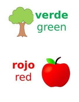 Colors in Spanish (for word wall) EDITABLE