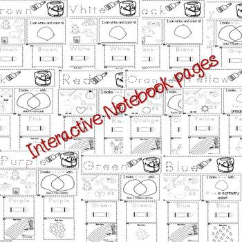Colors interactive notebook and crafts