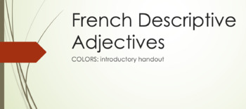 Colors : introductory handout