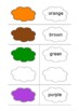 Colors - match word with color cards