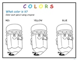Colors, numbers and shapes Printable activities.