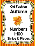 Old Fashion Autumn Number Strips and Pieces 1-100