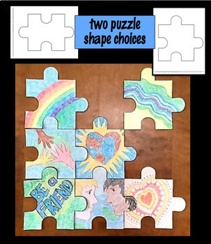 Art Lesson - Colors of Kindness Collaborative Wall Puzzle