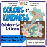 Art Lesson Colors of Kindness Collaborative Wall Puzzle