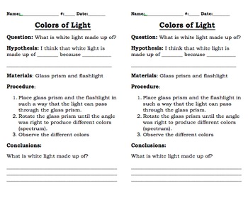 Colors of Light Experiment (Editable)