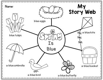 The Colors of Spring Emergent Readers and Story Web Activities