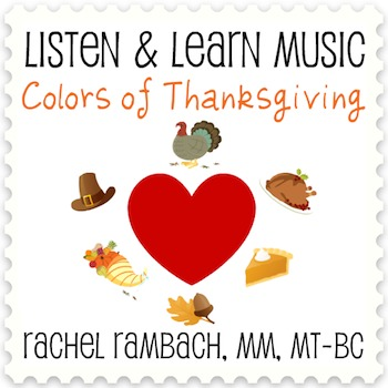 Colors of Thanksgiving: Educational Song (MP3 + Instrumental Track + Chords)