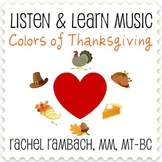 Colors of Thanksgiving: Educational Song (MP3 + Instrument