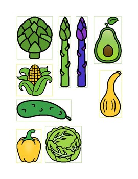 Colors of Vegetables Matching Activity Kit
