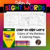 Colors of the Rainbow Color by Sight Word Pages {Pre-Prime