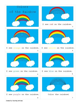 Colors of the Rainbow Easy Reader