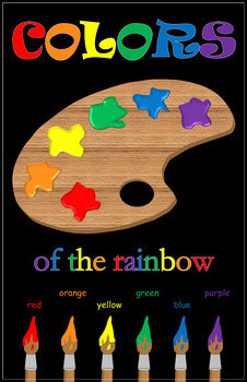 Colors of the Rainbow Black Poster