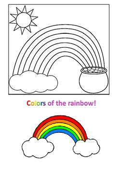 Colors of the Rainbow Word Search