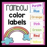 Colors of the Rainbow labels