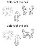 Colors of the Sea Kindergarten Emergent Reader