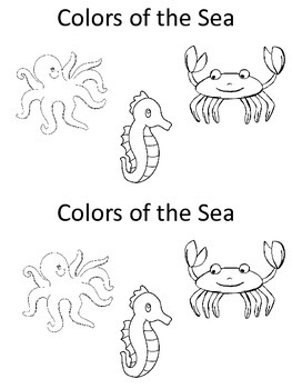 Colors of the Sea Kindergarten Emergent Reader