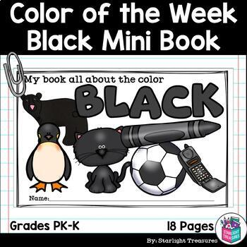 Colors of the Week: Black Mini Book for Early Readers