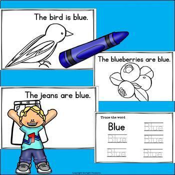 Colors of the Week: Blue Mini Book for Early Readers