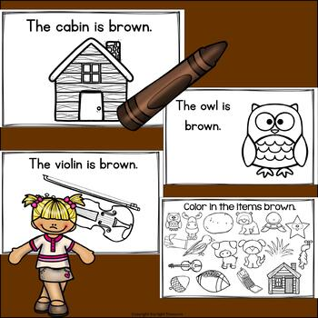 Colors of the Week: Brown Mini Book for Early Readers