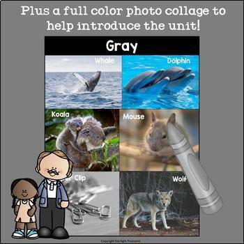 Colors of the Week: Gray/Grey Mini Book for Early Readers