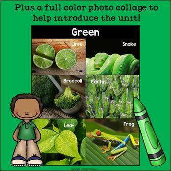 Colors of the Week: Green Mini Book for Early Readers