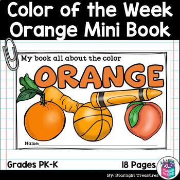 Colors of the Week: Orange Mini Book for Early Readers