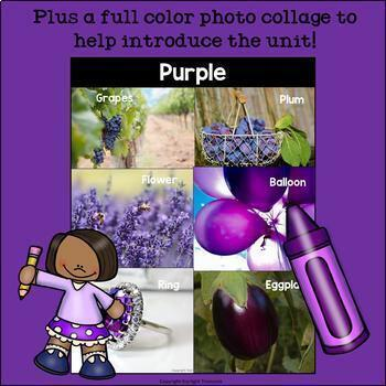 Colors of the Week: Purple Mini Book for Early Readers