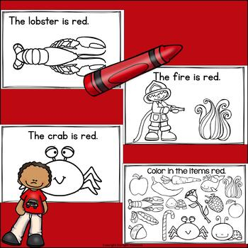 Colors of the Week: Red Mini Book for Early Readers