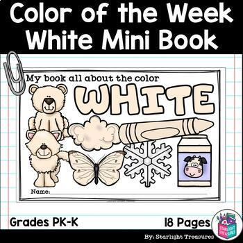 Colors of the Week: White Mini Book for Early Readers
