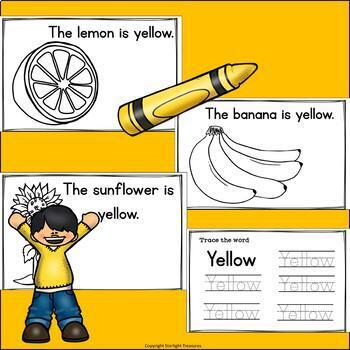 Colors of the Week: Yellow Mini Book for Early Readers