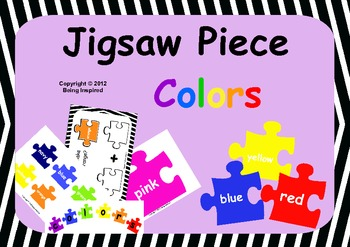 Colors on Jigsaw Pieces - includes worksheets (US version)