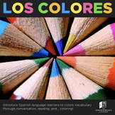 Los colores / Colors practice and reading in Spanish