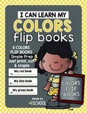 Colors practice flip books