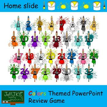 Colors Themed PowerPoint Review Game