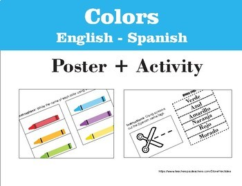 Colors English - Spanish (Poster & Activity)