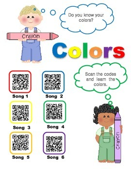 Colors using QR Codes
