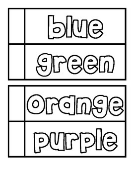 Colors using magnet letters