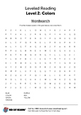 Colors worksheet - word search