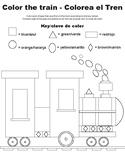 Colort the Train-Bilingual