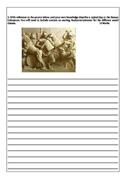 Colosseum Year 11 Ancient History Practice assessment