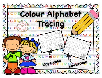 Colour Alphabet Tracing Cards